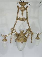Price Guide For A Sabino Frosted Glass Three Tier Chandelier